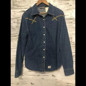 Levi's Strauss Denim snap button shirt 👕